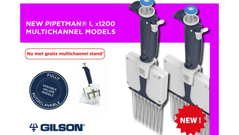 Pipetman L x1200 Multichannel Models