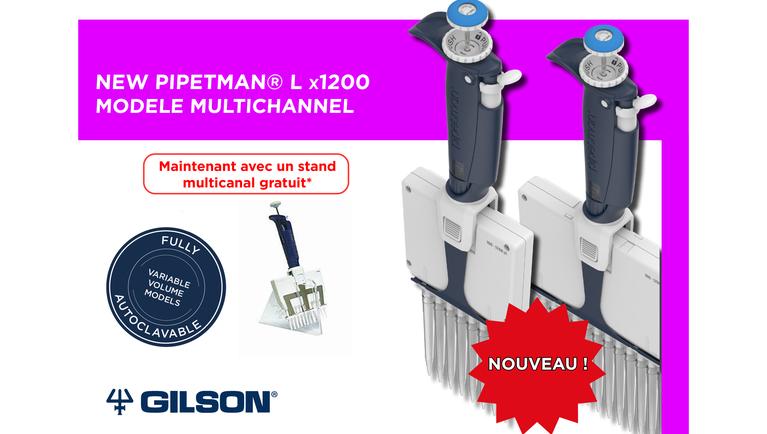 Les nouveau multicanaux de Gilson: Le pipetman L x1200