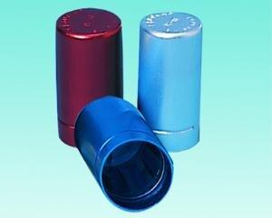 Cap-O-test autoclav. stop alu silver 17/18 mm